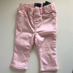 Gap Baby girls pink cropped jeans